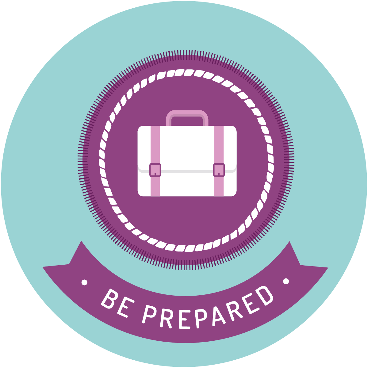 Be prepared scout badge icon