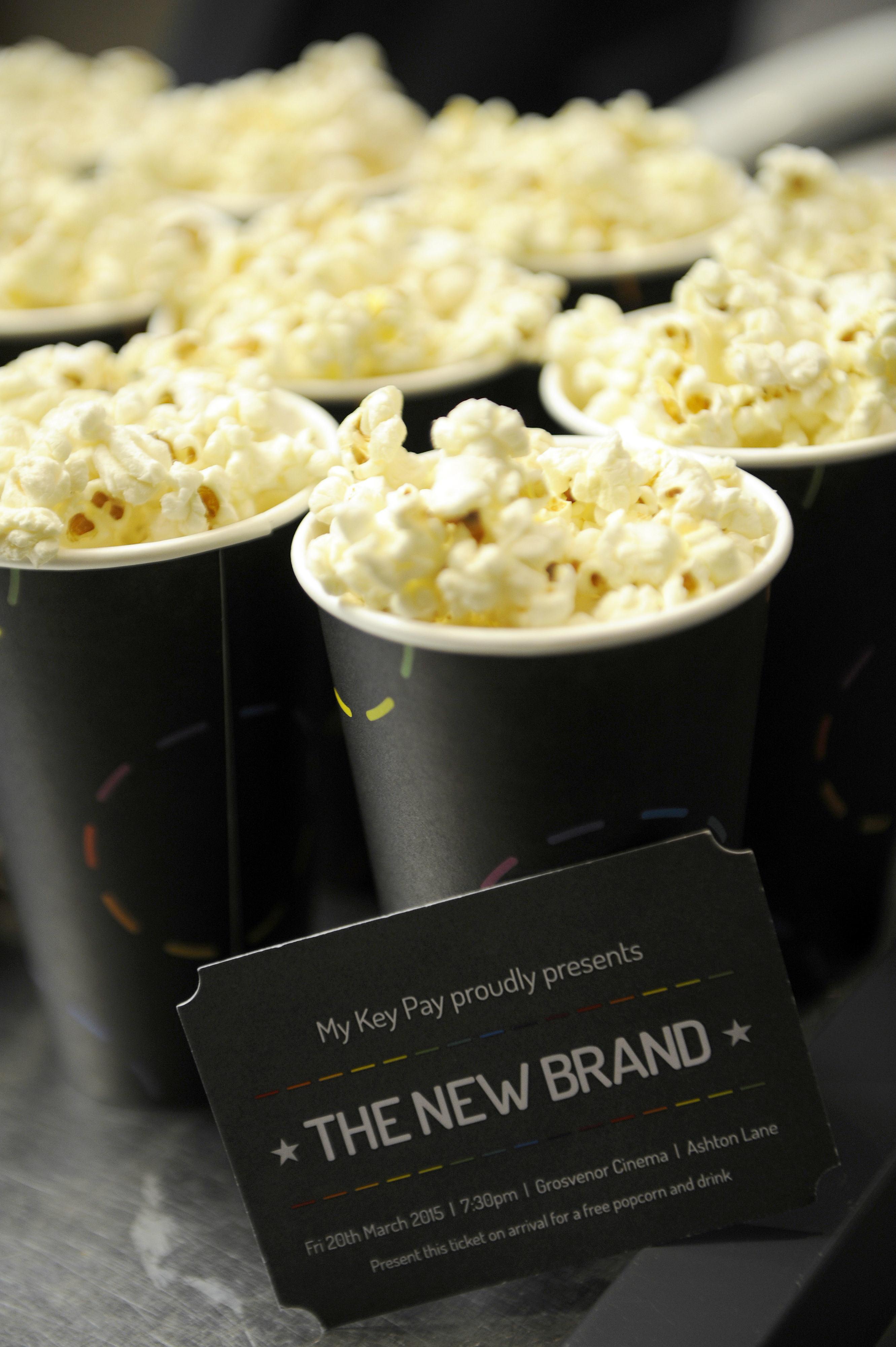 ticket + popcorn